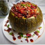 Spicy Quinoa Stuffed Courgette