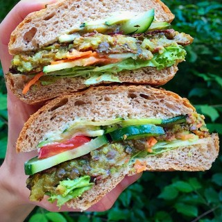 rice lentil burger, vegan