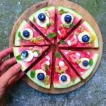 Wassermelonen Frucht Pizza