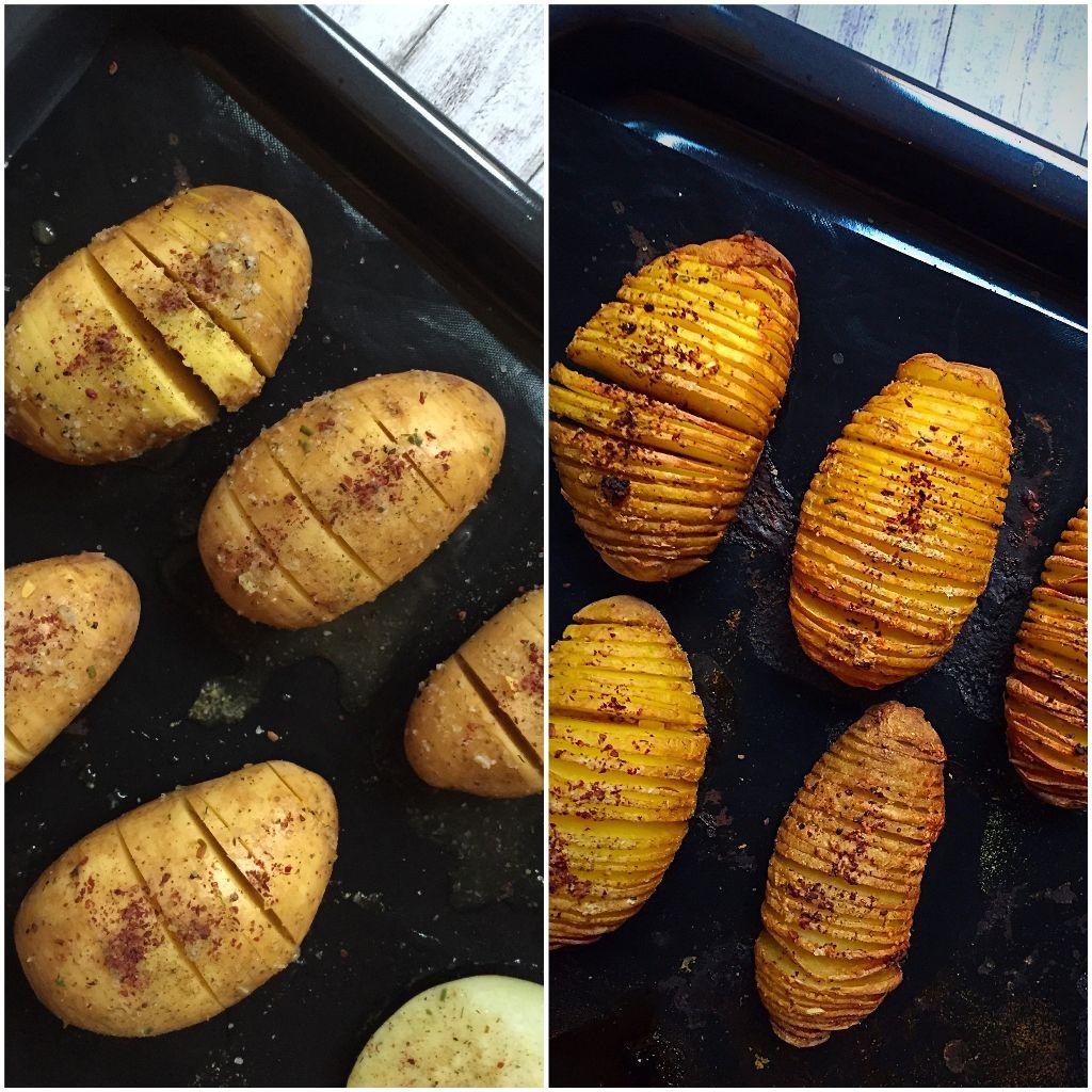 Oilfree Hasselback Potatoes