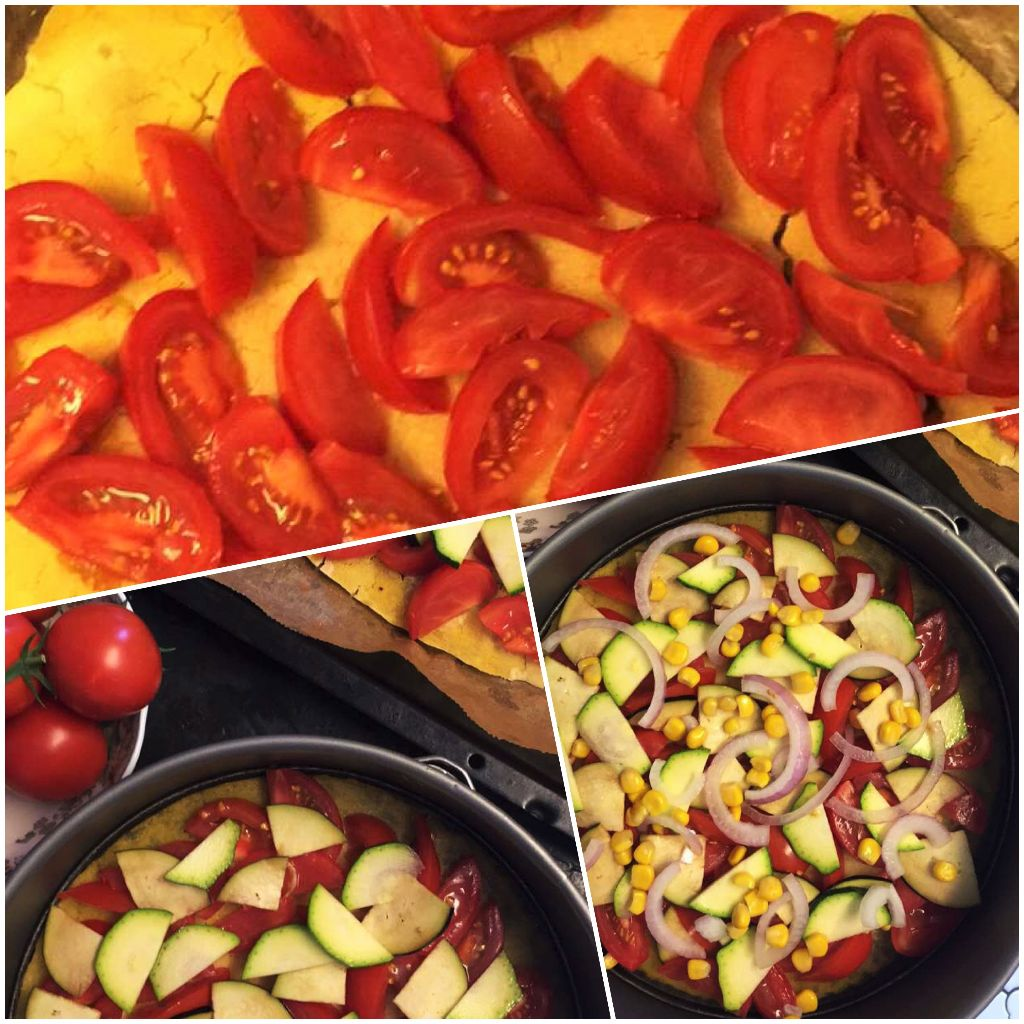 Glutenfree Veggie Pizza in the making