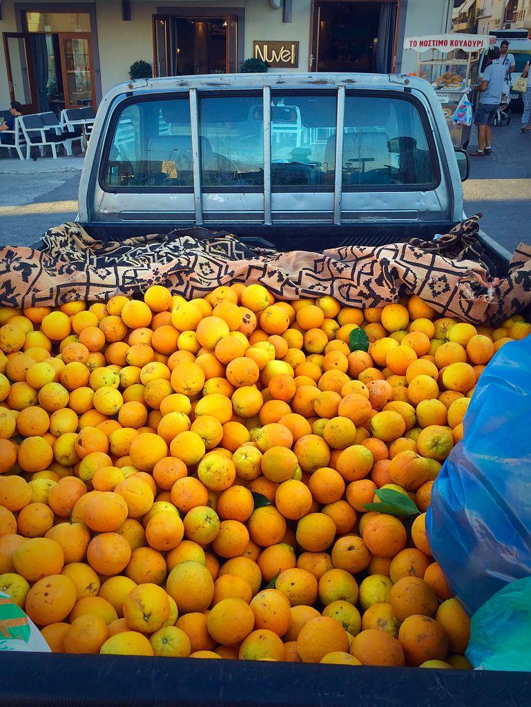 Chania Orange Truck