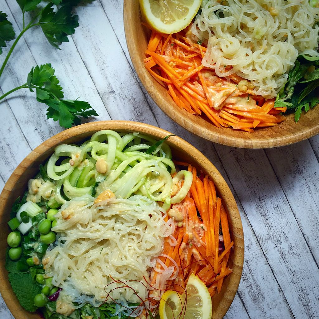 Glass Noodle Salad with Crunchy Peanuts
