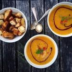 Leichte Hokkaido Kürbis Suppe