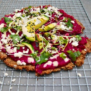 Beet Potato Pizza with Cauliflower Crust