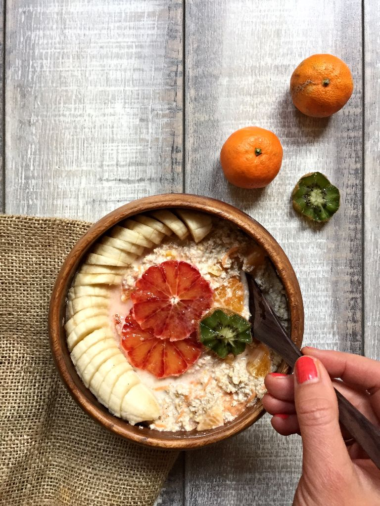 Raw Carrot Oatmeal