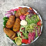 Hasselback Potatoes Rainbow Beet Bowl