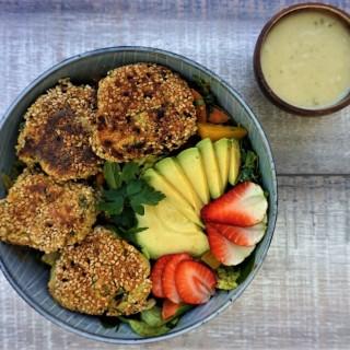 Vegan Falafel with mint and sesame