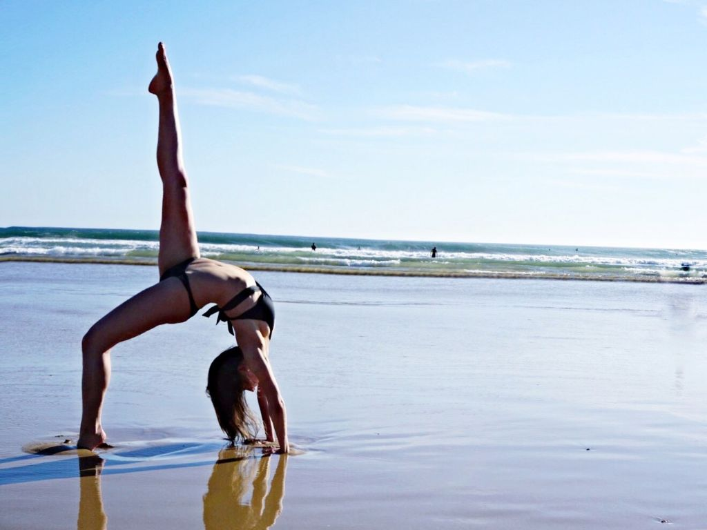 Praia de Carcavelos - great for yoga too :)
