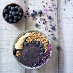 Flohsamen-Blaubeeren-Pudding