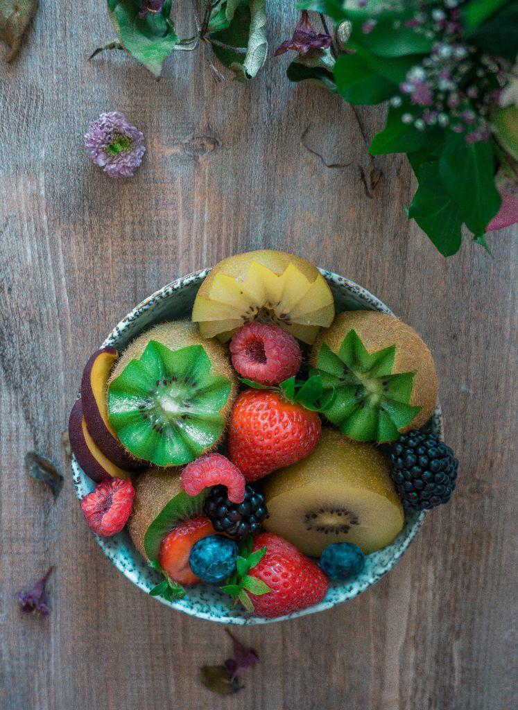 Kiwi Strawberry fruit bowl