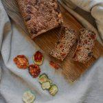 Mediterranean gluten-free protein bread with veggies