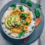 Chana Chickpea Dal with Sticky Rice