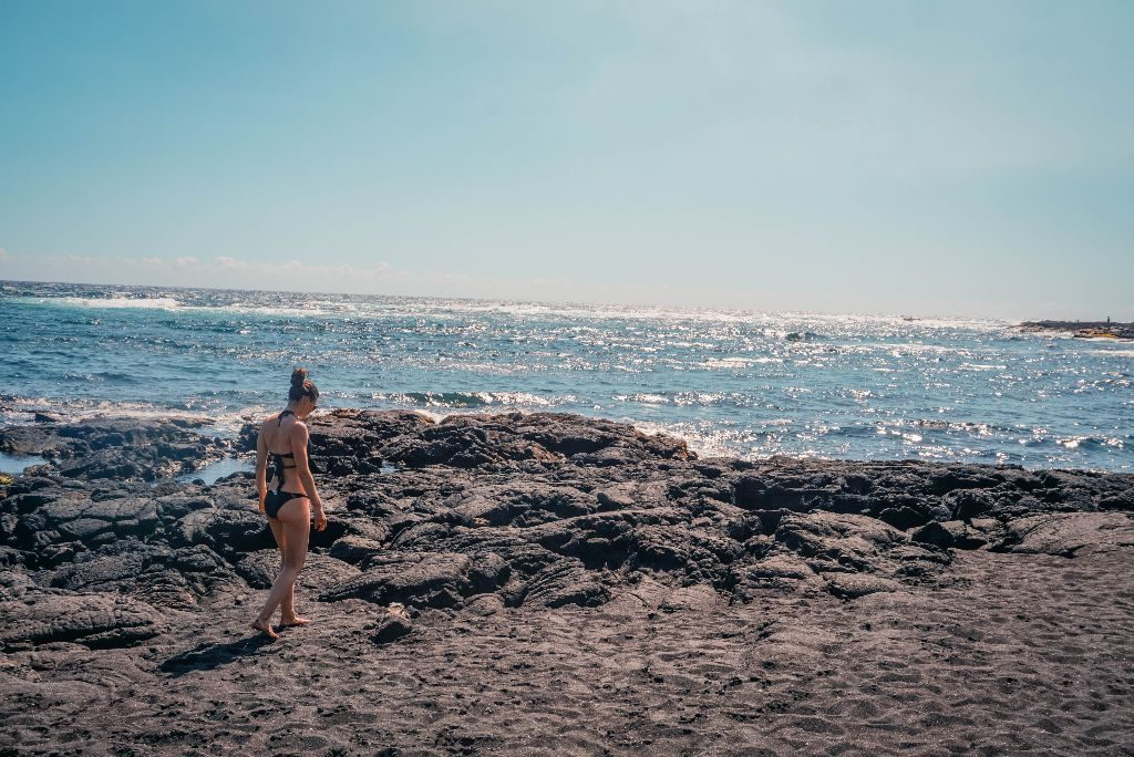 Sand beach black