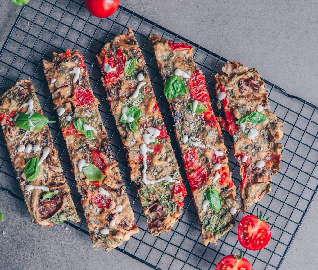 vegane Schüttelpizza