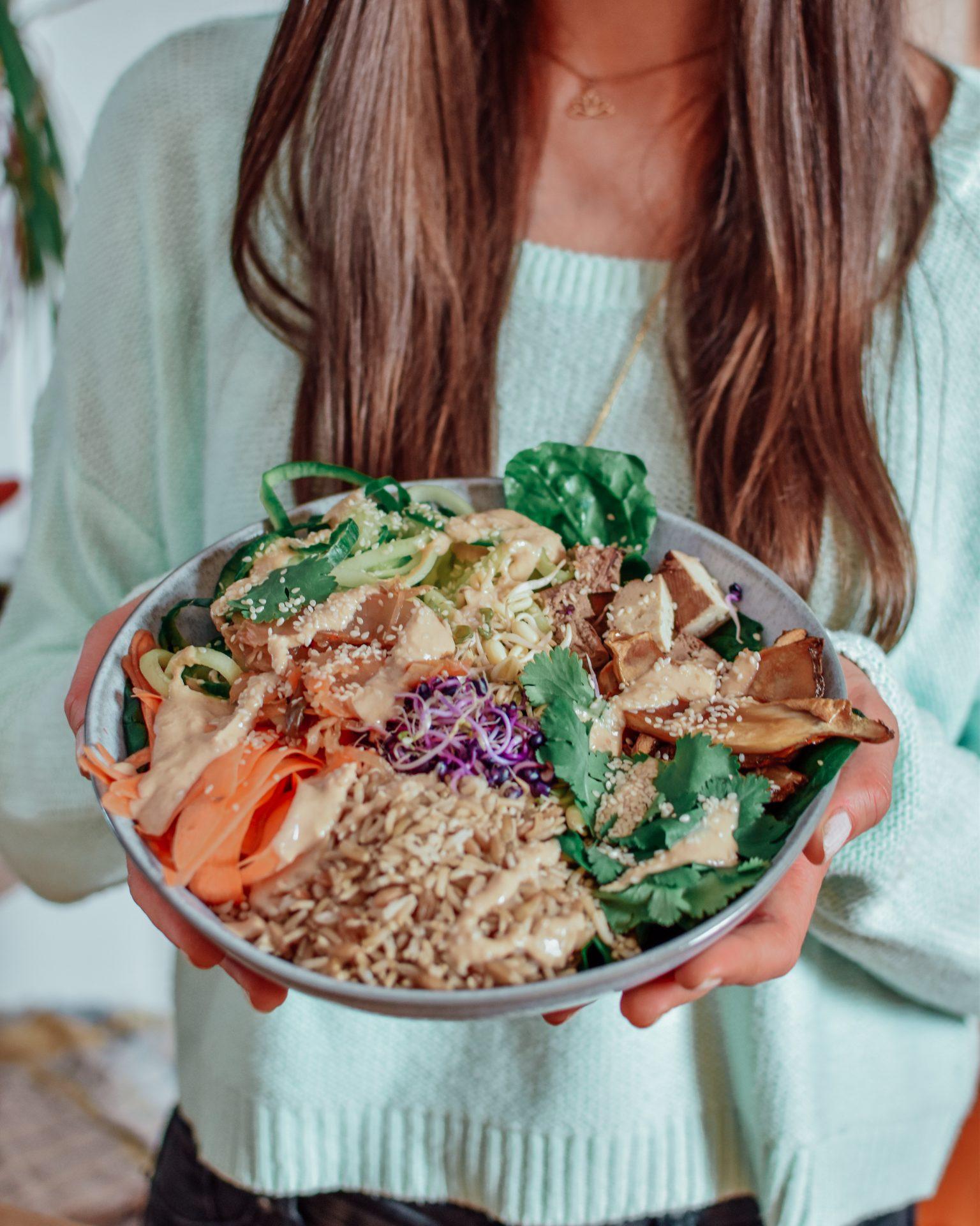Gesunde Bibimbap Bowl - vegan