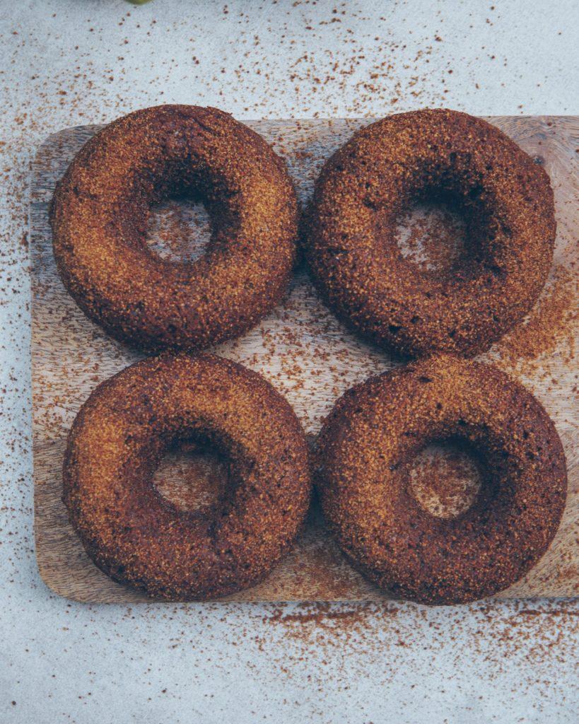 glutenfreie, gesunde Kürbis Donuts