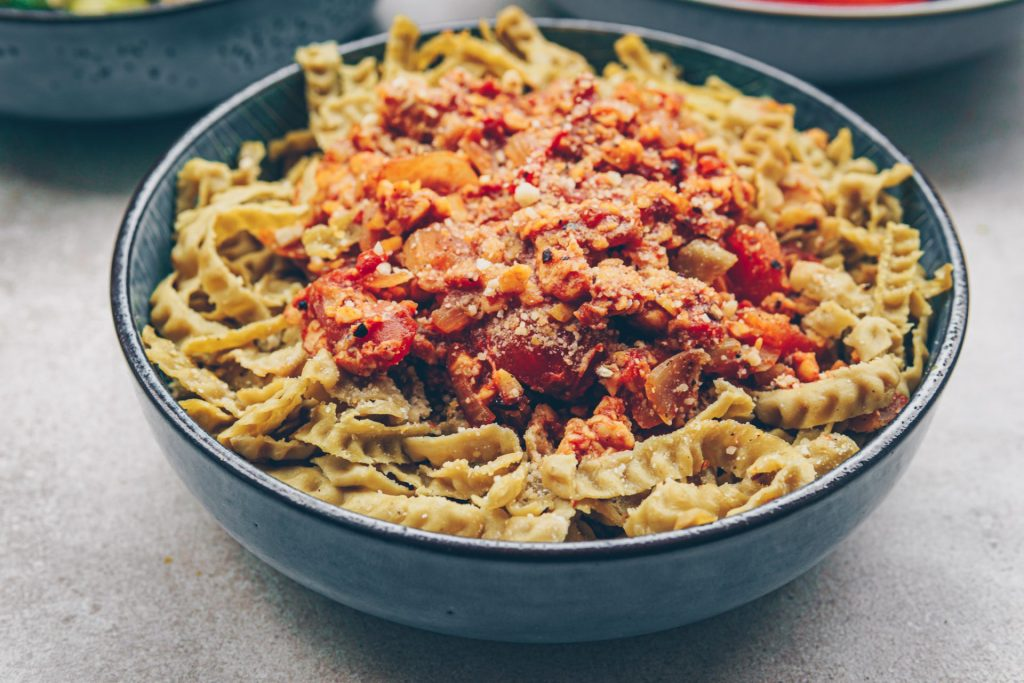 Vegan Bolognese, proteinrich and healthy