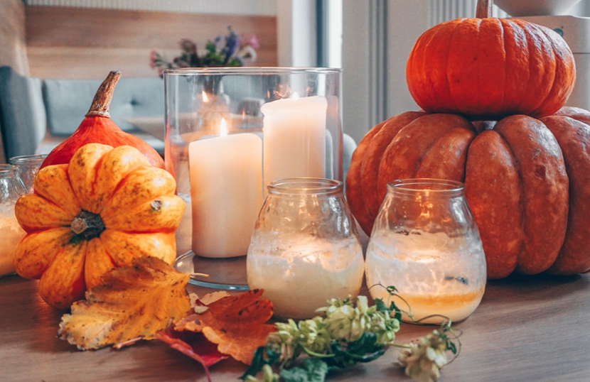 Kürbis Szene Oktober