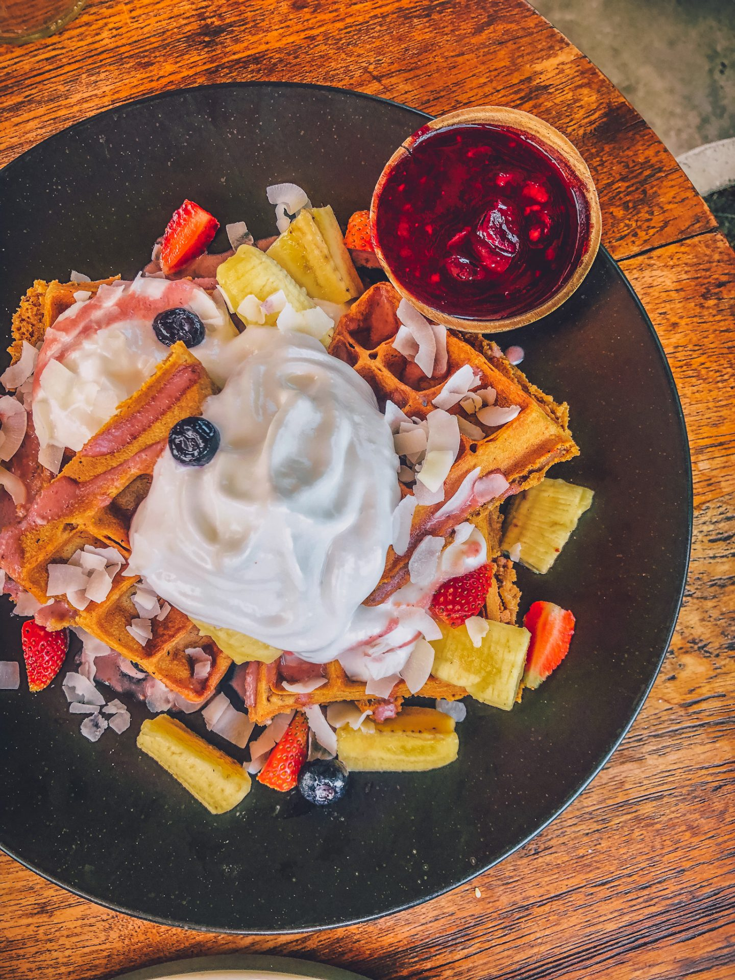 Healthy fgood guide Bali - vegan waffles