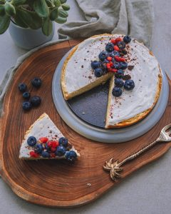 vegan, glutenfree protein cheesecake