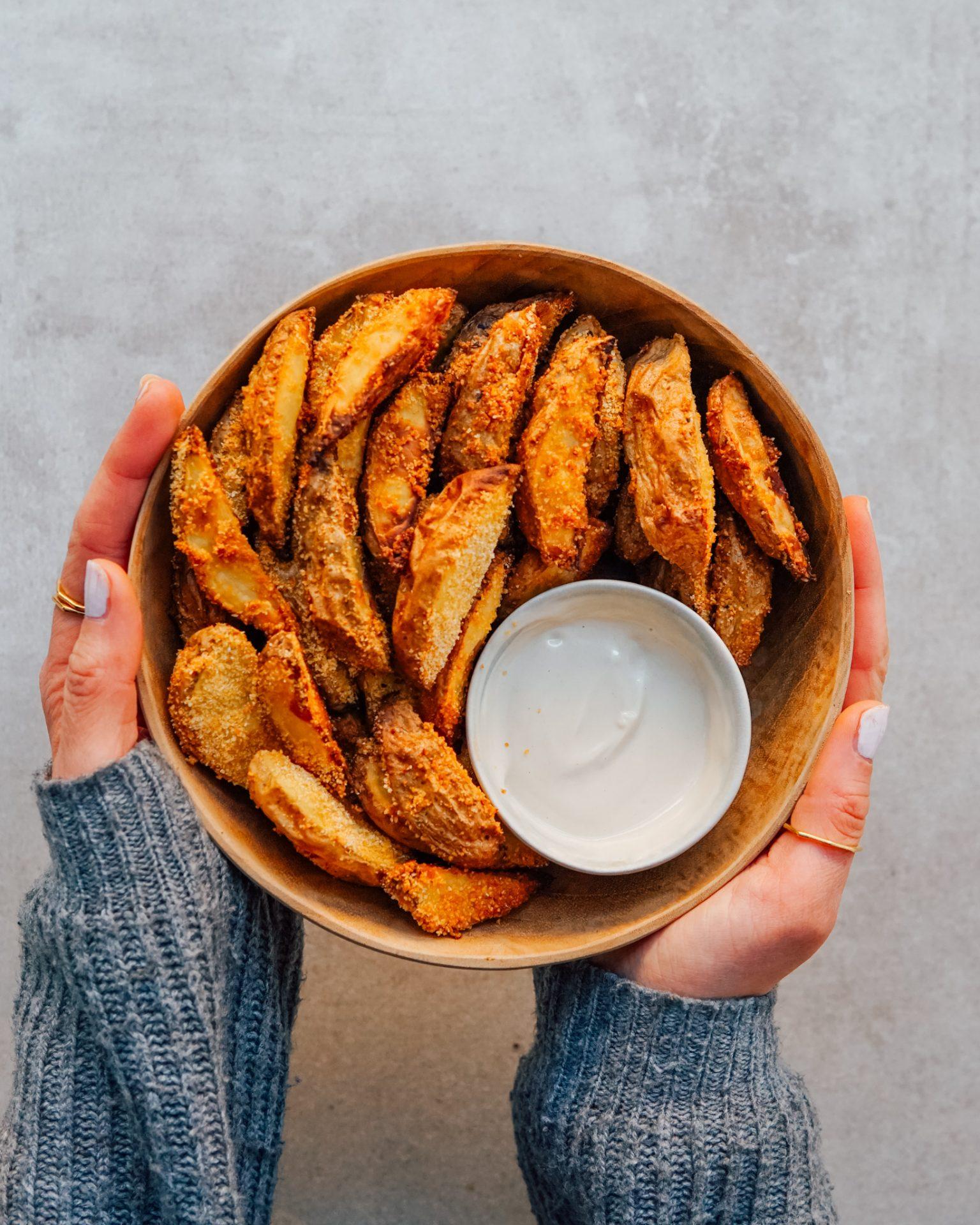 vegan oilfree pommes_Kartoffelwedges