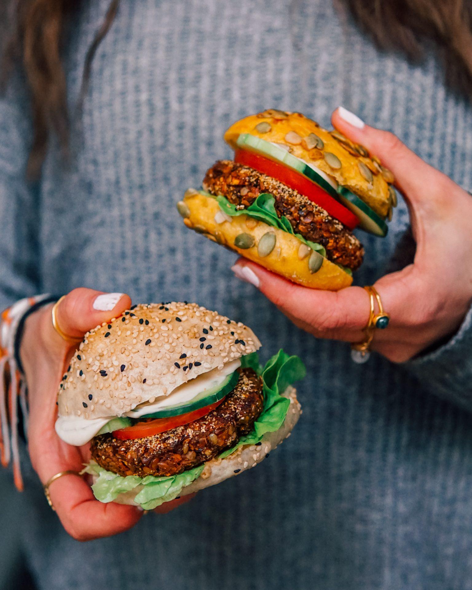 Sprouted Lentil Burger Vegan Bbq Annelina Waller