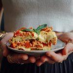 Gemüse Lasagne, vegan